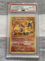PSA 8 Evolutions Charizard 11/108 Holo PRERELEASE Pokemon Card