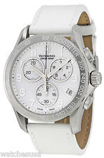 Victorinox 241418 Mother of Pearl Dial Leather Strap Chronograph Men's Watch