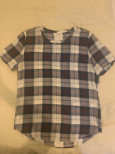 Equipment Silk Plaid Tshirt Sz Small