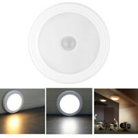 6 LED Wireless PIR Motion Sensor Stair Step Wall Light Indoor Cabinet Night Lamp