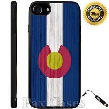 Colorado State Flag on Wood iPhone Case 6S 7 Plus Samsung Galaxy S7 S8 Plus