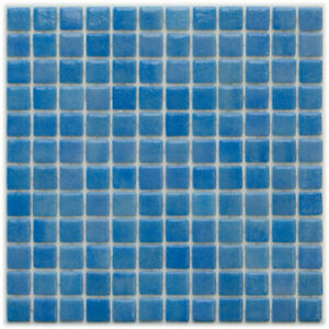 Glass mosaic tiles for swimming pools - BORA BORA - Solid Finish