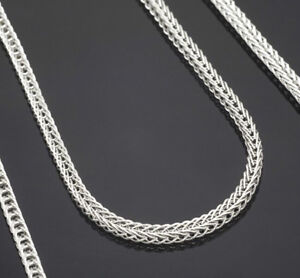 1PCS 16-30inch 925 Silver Fox Tail Chain Necklace Accessorie Jewelry Necklace