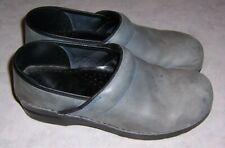 """DANSKO Womens Size 41 Dusty Blue Clogs Slip On Loafers 2"""" Wedge Heel"""