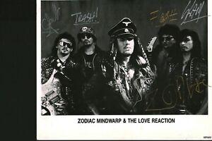 Zodiac Mindwarp & The Love Reaction signed autograph UACC AFTAL online COA