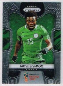 BASE CARD PANINI SOCCER PRIZM WORLD CUP RUSSIA 2018 N.142 SIMON NIGERIA