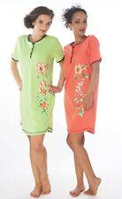 Damen-Nachthemd 2 Stück = 1 Preis (DF614ab) Gr.: 48-50 Baumwolle-Jersey