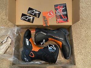 NEW Alpinestars KTM SMX-6 V2 Boots Size 43 Euro 9 US Black Orange (Flo Red)