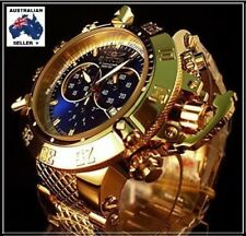 *RRP $2,495* INVICTA SUBAQUA NOMA III 18K GOLD ION PLATED BLUE CHRONOGRAPH 14501