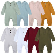 Newborn Infant Baby Boy Girl Knitted Romper Bodysuit Jumpsuit Clothes Outfit UK