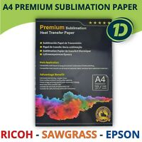 A4 Dye Premium Sublimation Paper For Ricoh Sawgrass Epson Printer Heat Transfer