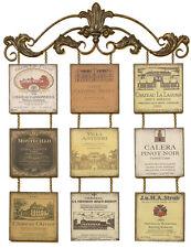 2161 - Antique Wine Bottle Labels Wall Décor