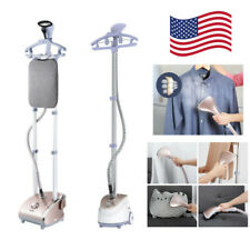 Portable Stand Steamer Fabric Clothes Garment Steam Iron Brush Hanger Steamboard