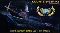 Counter-Strike: Global offesnive RANK LEM ✔️ Full Access + 500 HOURS (CS:GO)