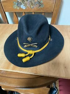 US Military OFFICIAL CALVARY PARADE WESTERN HAT MILANO HAT CO. 4X BEAVER 7 1/4