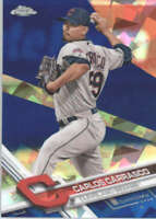 CARLOS CARRASCO 2017 TOPPS CHROME SAPPHIRE EDITION #31 ONLY 250 MADE