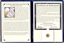 CAMBODIA 19TH CENTURY Hamsa Bird COIN with Album and Certificate