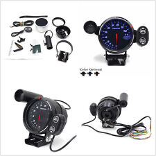 3.5'' Tachometer Gauge Blue LED Auto Meter with Shift Light+Stepping Motor RPM