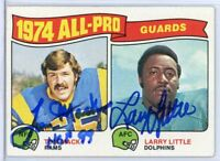 TOM MACK & LARRY LITTLE Autographed Signed 1975 Topps All Pro Guards Card #203