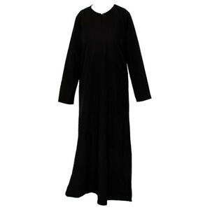 Plain Black Abaya / Burka / Jilbab Modest Maxi Dress Nidah Material Soft