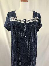 Long Nightgown Plus Size 2xl Curvy Navy Dot Sleep Lounge Gown Croft   Barrow 87a3e7c80