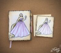 2011 Disney Designer Princess RAPUNZEL Journal & Note Card Steve Thompson Art