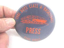 1980 Boys Class A Basketball State Finals Illinois Press Button