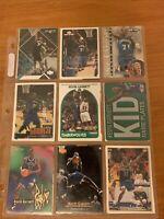 18 Kevin Garnett Card Lot, Rookies, Sub Sets