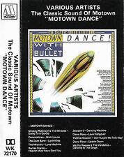 VARIOUS MOTOWN DANCE WITH A BULLET JACKSON 5 DIANA ROSS MIRACLES CASSETTE ALBUM