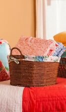 NEW! PIONEER WOMAN ROSE SHADOW PATTERN BASKET ~ ONLY ONES ON EBAY!