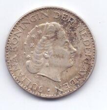1957 Netherlands Silver 1 Gulden Coin Nederland Dutch 1G