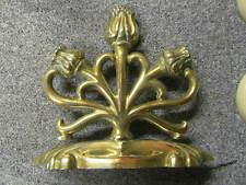 Antique Brass Fire/Fireplace Tools /Poker Rest - poss paper weight -AA51-