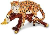 Bejeweled Leopard in Tree Trinket Box