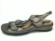 CLARK'S ARTISAN Womens Comfort SANDALS Strappy Bronze Leather US 8 EU 39 MINT!!!
