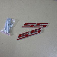 Red SS Glossy Metal Grille Emblem + Sticker Badge MotorSport 3D Turbocharged Car