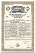Union Pacific Railroad Company Bond Certificate