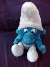 "1979 Vintage Peyo Smurf Plush Toy Doll Animal Cartoon Character 14"" sitting"