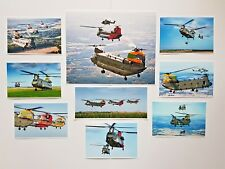 More details for postcard / print set of 9 raf chinook helicopters,100th anniversary celebrations