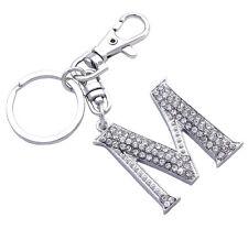 English Alphabet Letter Initial M Purse Charm Key Chain Birthday Gift  k3001M