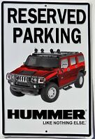 PLAQUE METAL vintage USA  HUMMER PARKING  45 X 30 CM