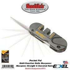 Smith's #PP1Pocket Pal Multi-Function Knife Sharpener, For Straight & Serrated