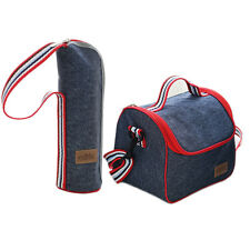 Thermal Insulated Cooler Lunch Box Carry Tote Picnic Storage Bag+Thermos cup set