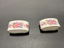 Royal Crown Derby Poisie  Napkin Ring Set Porcelain Made In England  Set Of 2