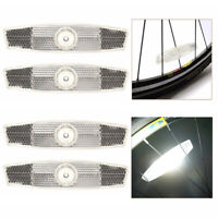 4 Pcs Bicycle Bike Wheel Reflective Spoke Safe Reflectors Mountain Road F4S9
