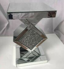 Mirrored Console Hallway Side Table Silver Mirror Modern Furniture Glass Lounge!