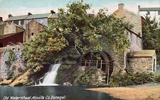 OLD WATER WHEEL MOVILLE CO. DONEGAL IRELAND LAWRENCE VINTAGE IRISH POSTCARD