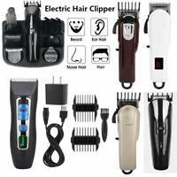 Wireless USB Hair Clipper Trimmer Electric Hair Cutting Machine Cutter Clipper H