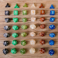 7Pcs D10 Multi-Sided Gem Dice Die for RPG Dungeons & Dragons DND D&D Game Set SY