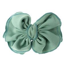 Barrette Pince À Cheveux Verte bleu vert clair grand Noeud Papillon tissu