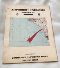 First Marine Division Us Navy 1947 Amphibious Exercises Book